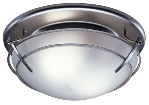 Broan 757SN Bathroom Ceiling Fan and Light with Frosted Glass Shade