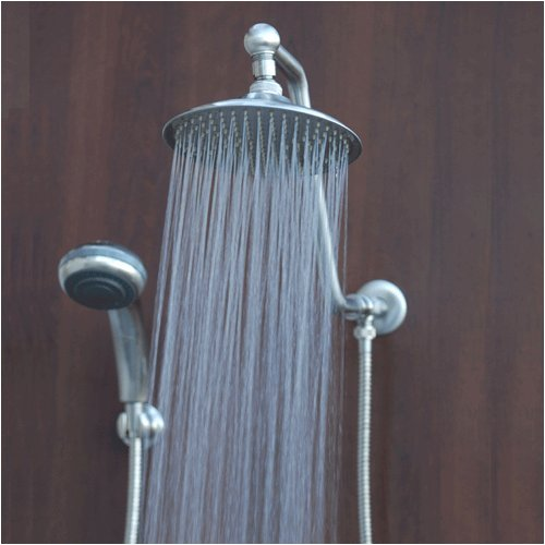 Atlantis 6 Brushed Nickel Rain Showerhead Combination