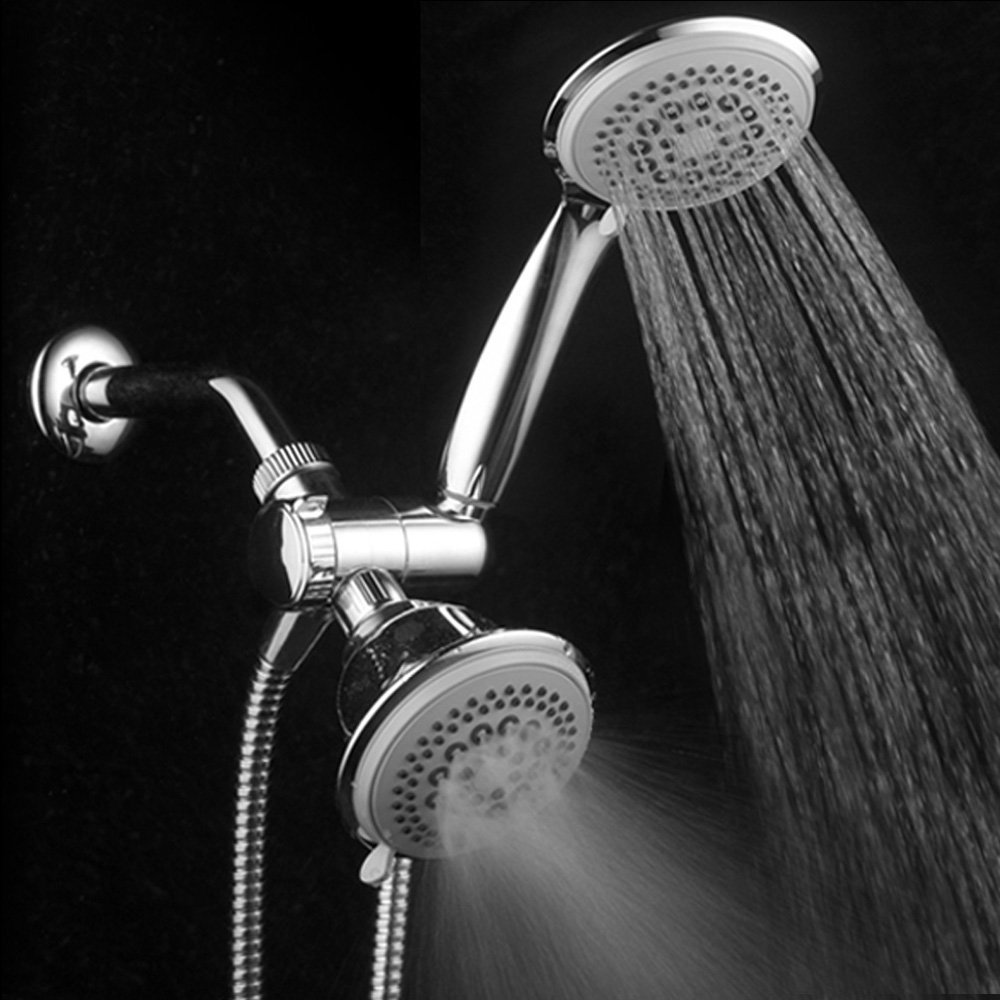 DreamSpa® Ultra Luxury 36 Setting Large Showerhead and Hand-Shower Dual 3-Way-Combo
