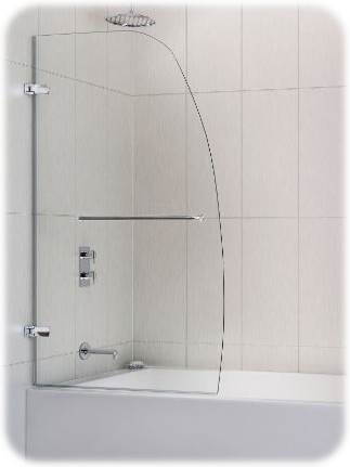Aqua Uno Frameless Hinged Tub Door