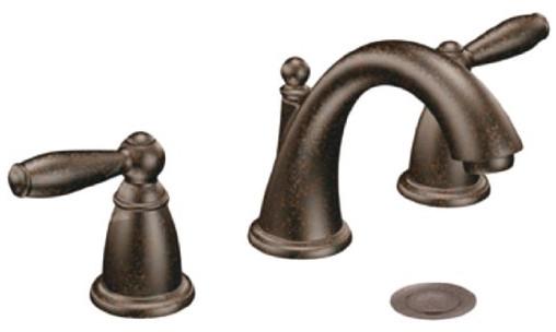 Brantford Two-Handle Low Arc Bathroom Faucet from Moen