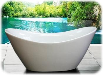 AKDY Free Standing Acrylic Bathtub