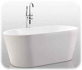 HelixBath Agora Freestanding Acrylic Soaking Bathtub