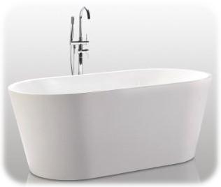 HelixBath Agora Freestanding Acrylic Soaking Bathtub