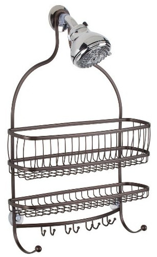 InterDesign York Lyra Extra Wide Bathroom Shower Caddy