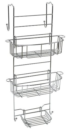 Zenna Home E7803STBB, Over-the-Shower Door Caddy