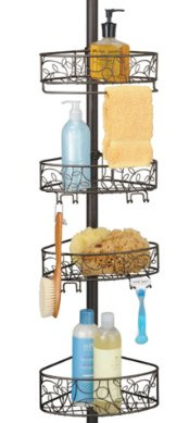 InterDesign Twigz Bathroom Constant Tension Shower Caddy Pole