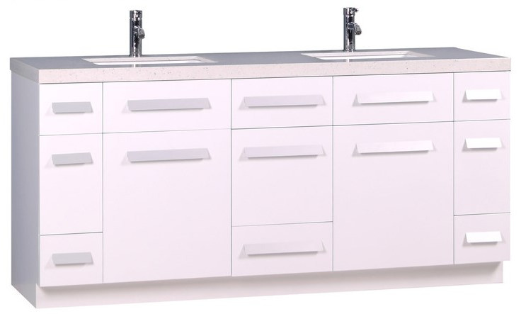 Moscony Double Sink Vanity Set from Design Element