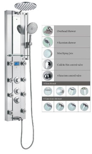 SPV962332 Thermostatic Shower Panel from Blue Ocean
