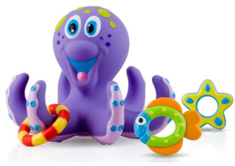 Nuby Octopus Hoopla Bathtime Fun Toys