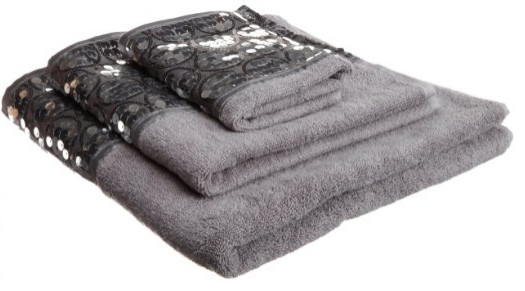 Popular Bath Sinatra Silver 3-Piece Towel Set