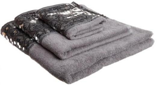 Popular Bath Sinatra Silver 3-Piece Towel Set