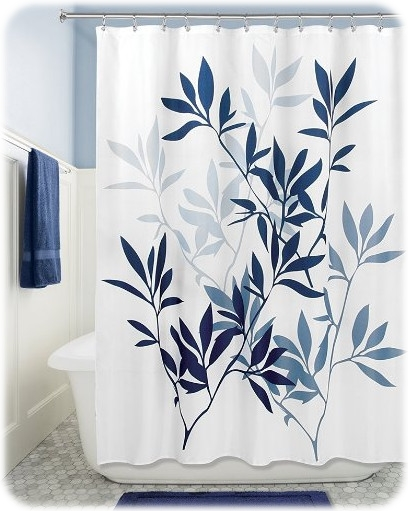 InterDesign Leaves Soft Fabric Shower Curtain