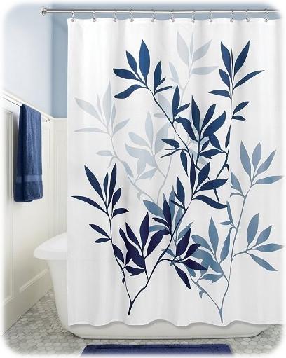 InterDesign Leaves Soft Fabric Shower Curtain
