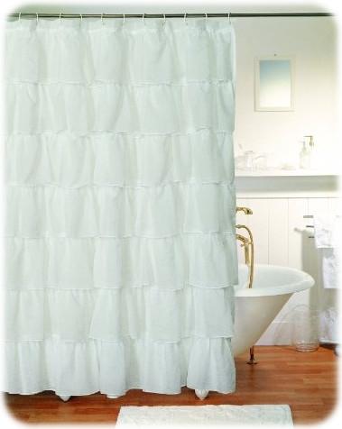 Gypsy Ruffled Shower Curtain