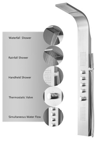 004-SS Shower Panel Rain from Decor Star