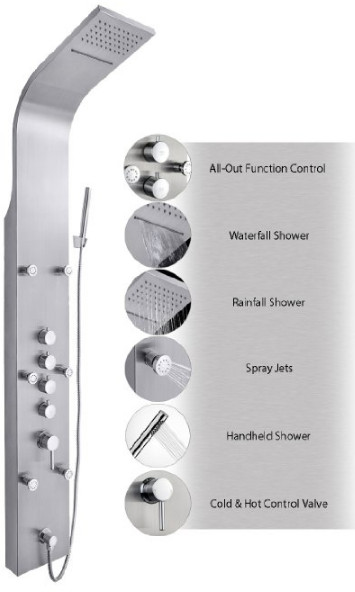JX-9821 AZ-9821 Shower Panel from AKDY
