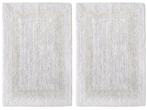 2 Piece Reversible Step Out Bath Mat Rug Set from Cotton Craft