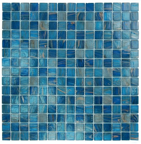 Blue Copper Glass Tile Blend from Glass Tile 4 Less