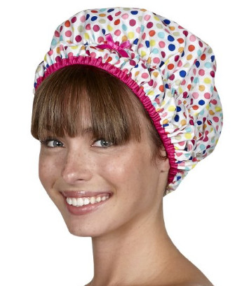 The Fashionista Collection Mold Resistant Shower Cap from Betty Dain