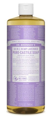 Fair Trade & Organic Castile Liquid Soap from Dr. Bronners