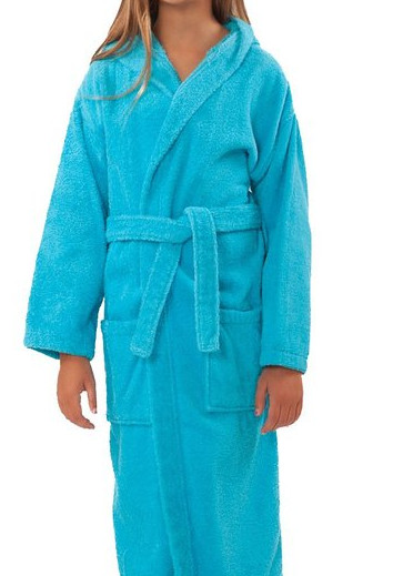 Kids Hooded Turkish Robe from Soft Touch Linen