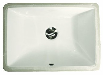 Rectangle Ceramic Undermount Vanity from Nantucket Sinks