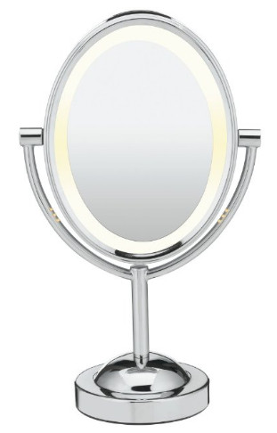 Oval Shaped Double-Sided Lighted Makeup Mirror from Conair
