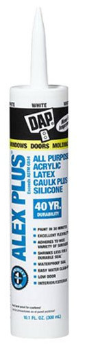 White Alex Plus Acrylic Latex Caulk with Silicone from DAP