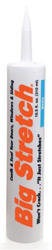 Big Stretch Acrylic Latex High-Performance Caulking Sealant from Sashco