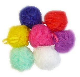 Mesh Pouf Bath Sponge from Aquasentials