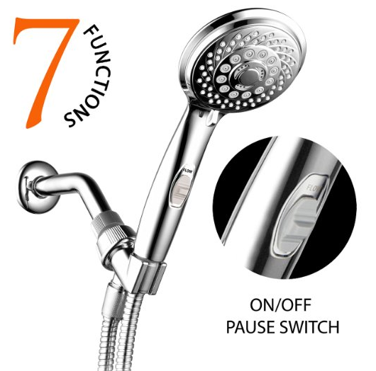 AquaCare Series Ultra-Luxury 7-Setting Spiral Hand Shower