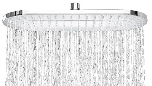 Oval Bathroom Rainfall Style Luxury Water Saving Shower Head
