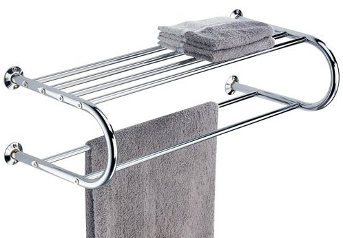 Shelf with Towel Rack from Organize It All