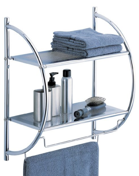 2-Tier Shelf with Towel Bars from Organize It All