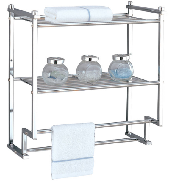 2-Tier Wall Mounting Rack with Towel Bars from Organize It All
