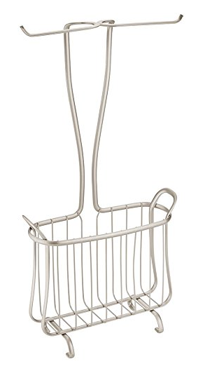Axis Free Standing Toilet Paper Holder and Magazine Rack for Bathroom from InterDesign