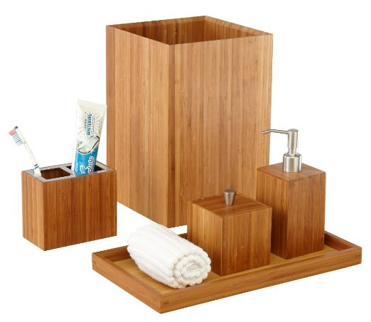 Bamboo Bath and Vanity Set from Seville Classics