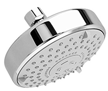 Three Function Rain Showerhead with Easy Clean