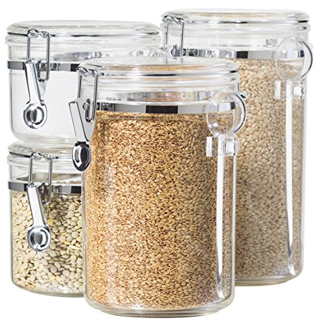 4-Piece Acrylic Canister Set from Oggi