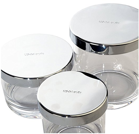 Bathroom Vanity Canister Set of 3 from US Acrylic