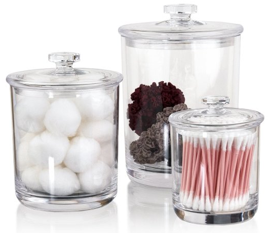 Apothecary Jars Set of 3 from US Acrylic