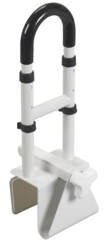 Adjustable Height Bathtub Grab Bar Safety Rail from Drive Medical