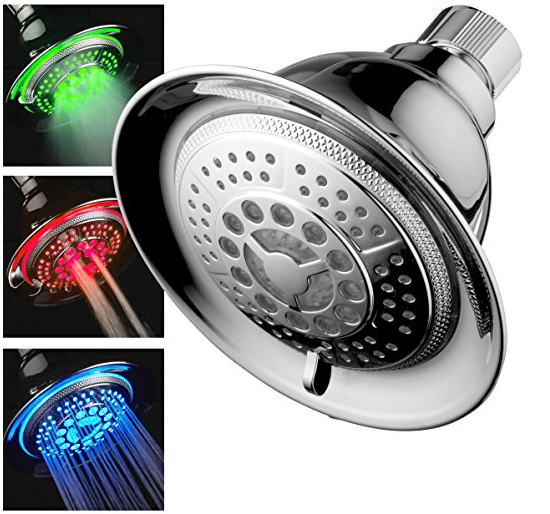 The Dream Spa All Chrome LED Showerhead