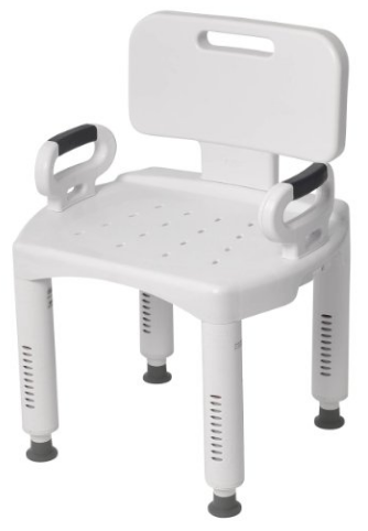 Premium Series Shower Chair with Back and Arms from Drive Medical