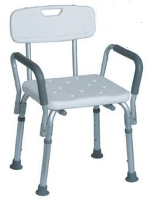 Bath Bench with Back Support and Removable Padded Arms from MedMobile