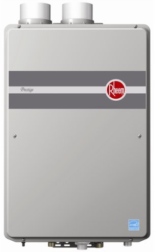 Indoor Direct Vent Tankless Natural Gas Water Heater from Rheem