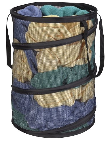 Pop-Up Collapsible Mesh Laundry Hamper from Household Essentials