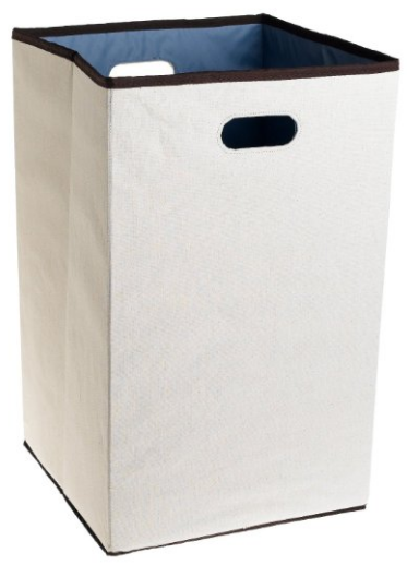 Custom Closet Folding Laundry Hamper from Rubbermaid