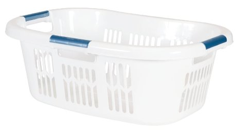 Hip Hugger Laundry Basket from Rubbermaid